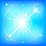 蓝色夏天天空-编辑可能的向量图形 库存例证