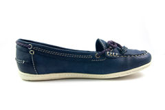 蓝色夏天鞋子 免版税图库摄影