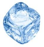 蓝色多维数据集冰 库存图片