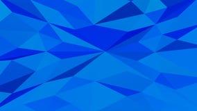 蓝色多角形几何表面背景 3d翻译 向量例证