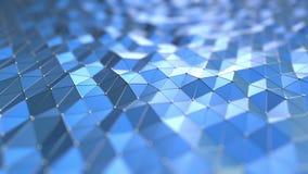 蓝色多角形行动背景 无缝的圈 影视素材