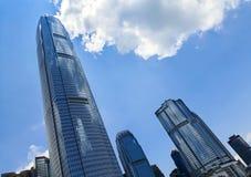 蓝色大厦办公室天空 免版税库存图片