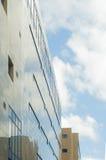 蓝色大厦办公室视窗 库存图片