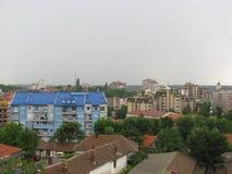 蓝色大厦在斯梅代雷沃 免版税库存图片