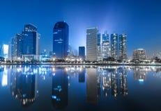 蓝色大厦在曼谷 免版税库存照片
