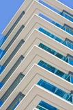 蓝色大厦垄断白色 免版税库存图片