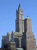 蓝色大厦天空 免版税图库摄影