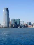 蓝色大厦现代办公室天空 免版税库存照片