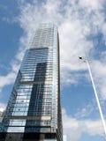 蓝色大厦现代办公室天空 免版税库存图片