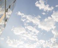 蓝色大厦现代天空 库存图片