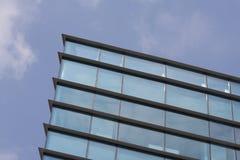 蓝色大厦玻璃办公室 库存照片