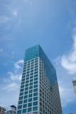 蓝色大厦高层天空 库存照片