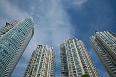 蓝色大厦高层天空 免版税库存图片