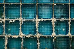 蓝色大块玻璃 免版税库存图片