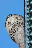 蓝色大教堂尖塔清真寺彼得斯堡st 免版税库存照片