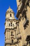 蓝色大教堂深马拉加天空 免版税库存图片