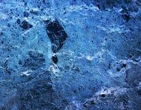 蓝色大理石岩石 免版税库存照片