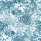 蓝色大理石抽象手画无缝的样式 光栅纹理 库存图片