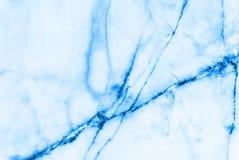 蓝色大理石样式摘要背景 免版税库存图片