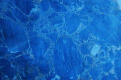蓝色大理石纹理背景 免版税库存图片