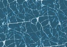蓝色大理石纹理 免版税库存图片