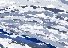 蓝色大理石纺织品向量 库存照片