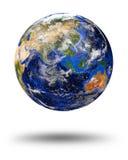 蓝色大理石行星地球 免版税图库摄影