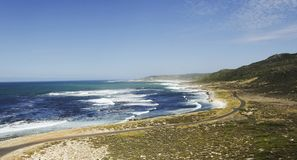 蓝色大西洋海岸,好望角,南非,开普敦 库存图片