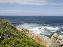 蓝色大西洋海岸,好望角,南非,开普敦 免版税库存照片