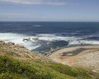 蓝色大西洋海岸,好望角,南非,开普敦 免版税库存图片