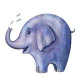 蓝色大象的例证 免版税图库摄影