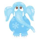 蓝色大象 库存图片