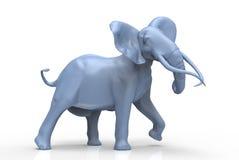 蓝色大象 库存照片