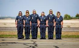 蓝色天使乘员组 免版税图库摄影
