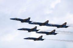 蓝色天使克利夫兰Airshow 2018年 免版税库存照片