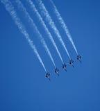 蓝色天使飞行表演 免版税库存照片