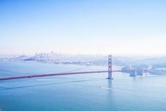 蓝色天在旧金山 免版税库存照片