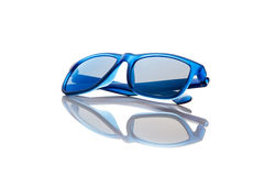蓝色太阳镜 免版税库存照片