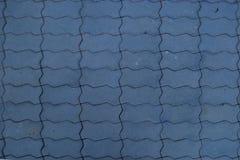 蓝色奇怪的不规则的形式地垫 免版税库存照片