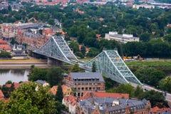 蓝色奇迹或者Loschwitz桥梁 免版税图库摄影
