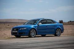 蓝色奥迪RS4 图库摄影