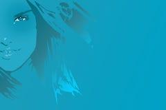蓝色女孩 免版税库存照片