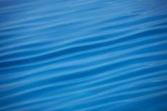 蓝色好的波纹水 库存照片