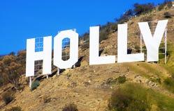 蓝色好莱坞符号天空 库存图片