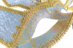 蓝色威尼斯式狂欢节面具 免版税库存照片