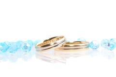 蓝色婚礼 免版税库存图片