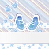 蓝色婴儿阵雨看板卡 图库摄影