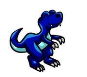 蓝色婴儿T雷克斯 库存图片
