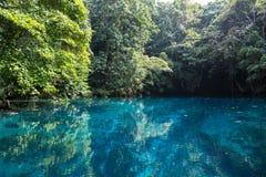 蓝色孔在天堂,瓦努阿图 免版税库存图片