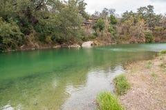 蓝色孔游泳的地区 免版税图库摄影